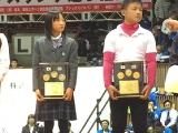 左から、伊藤 海さん(網野)、濱本心聞君(エンジョイ)