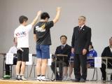 地元選手代表、左:白川剣斗(KWC)と右:中村響希(TOSU)の選手宣誓
